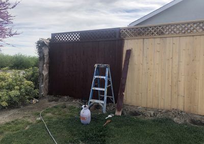 Residential New Fence Painting