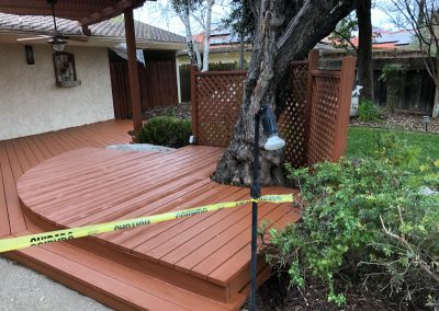 Residential deck and patio exterior painting in Modesto