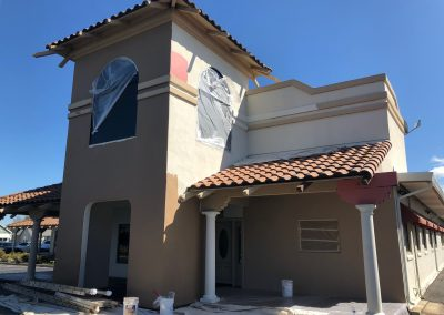 Commercial building exterior painting in Modesto, Stockton, Tracy