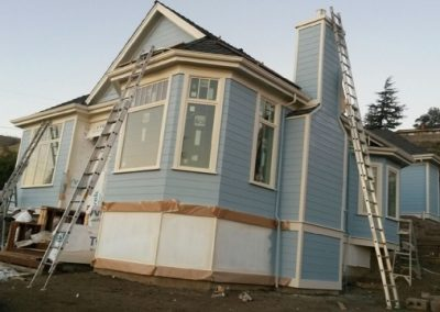 Residential exterior wall painting