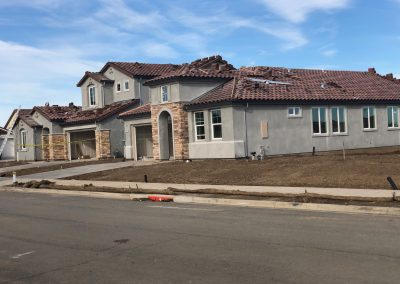 New construction residential exterior painting