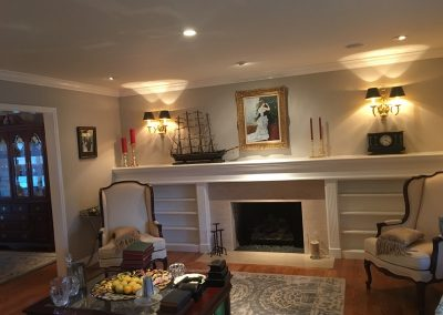 MCR Painting interior with walls and fireplace trim