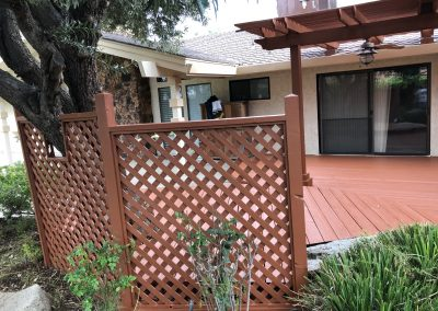 Redwood Trellis and Arbors Painting in Modesto